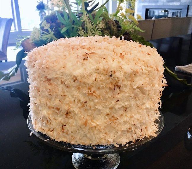 Devil's Food Cake w/Coconut Cream Filling & Marshmallow Buttercream Frosting