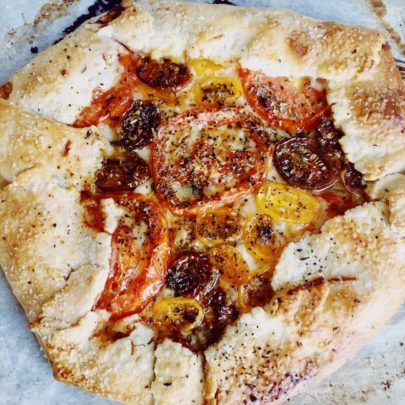 Tomato Galette with Parmesan Crust