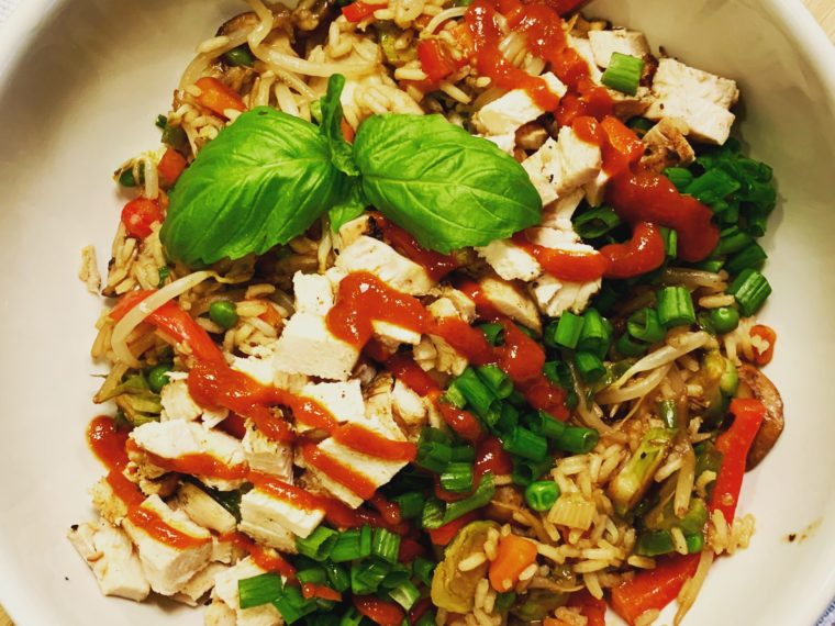Asian Chicken & Rice Bowl