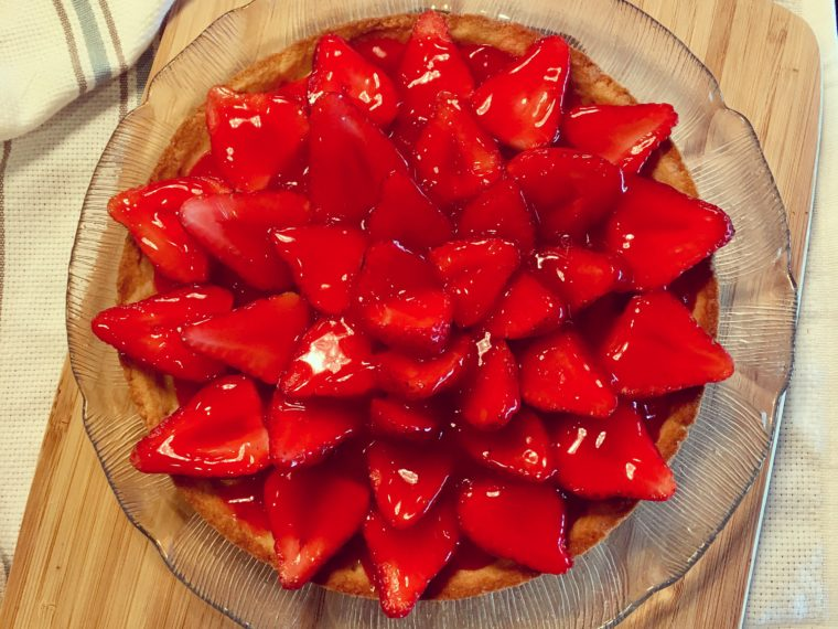 German Strawberry Torte