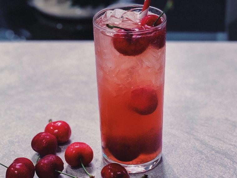 Cherry Bourbon Smash