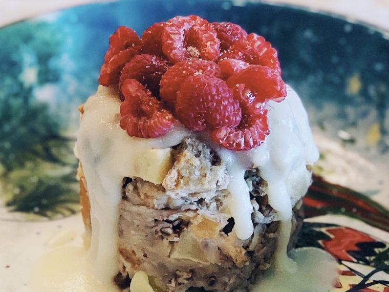 Bread Pudding w/Vanilla Sauce