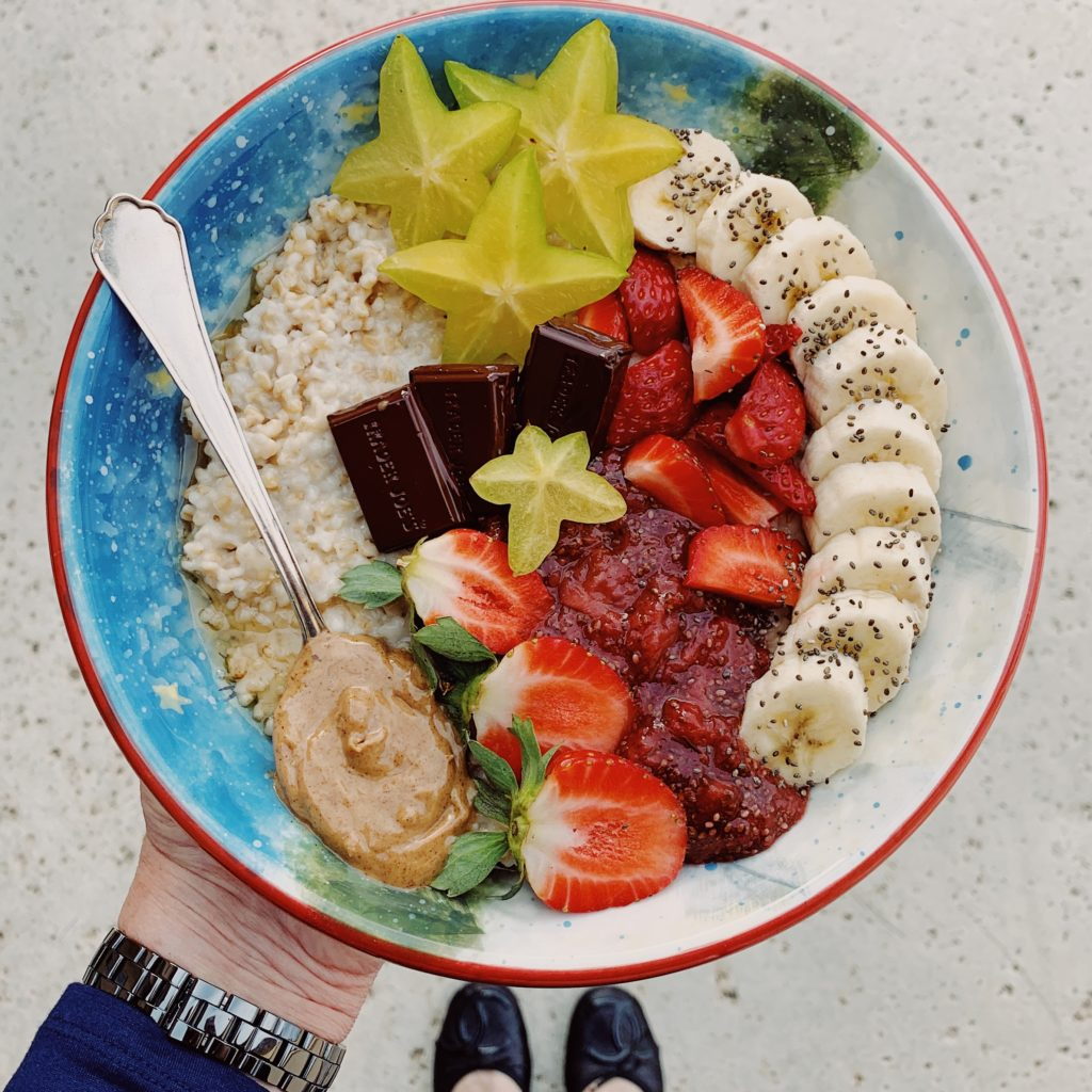Oats w/Strawberry Chia Jam & Almond Butter