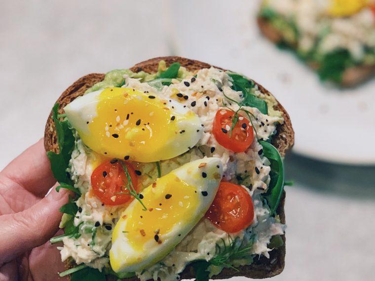 Tuna on Toast w/Avocado & a 7-Minute Egg