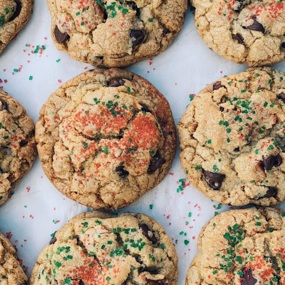 Christmas Chocolate Chips Cookies