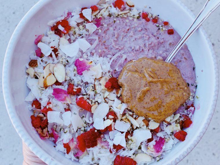 Pink Hibiscus Porridge