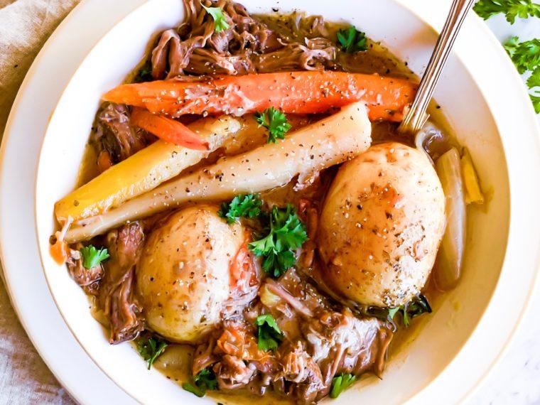 Braised Beef w/Rainbow Carrots & Potatoes