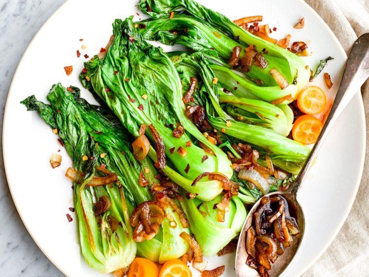 Baby Bok Choy in Garlic Sauce