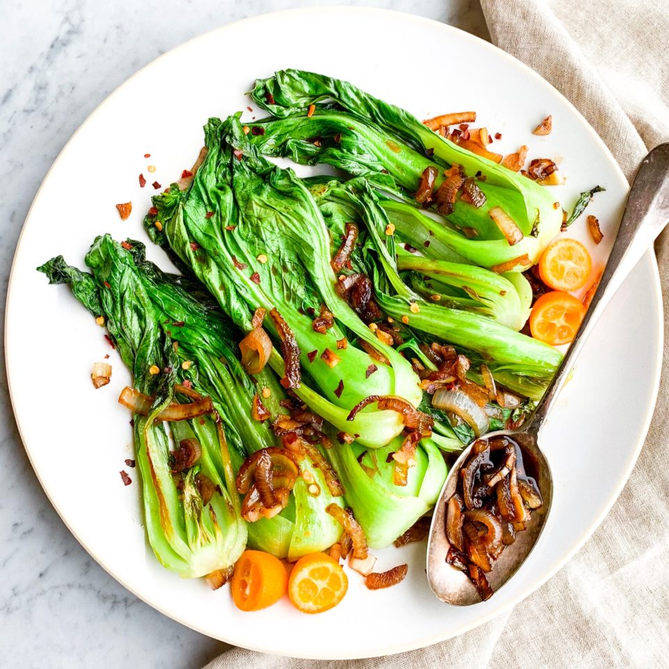 Baby Bok Choy in Garlic Sauce