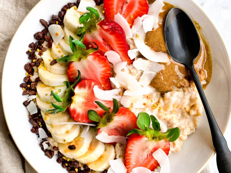Banana Split Porridge