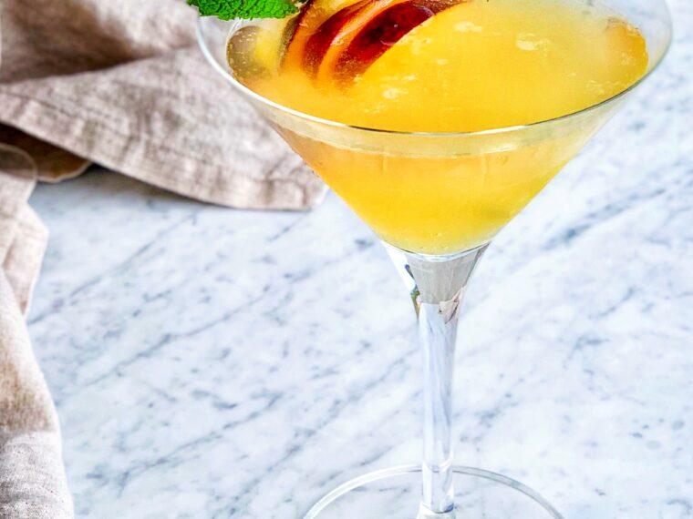 Peach & Orange Blossom Martini