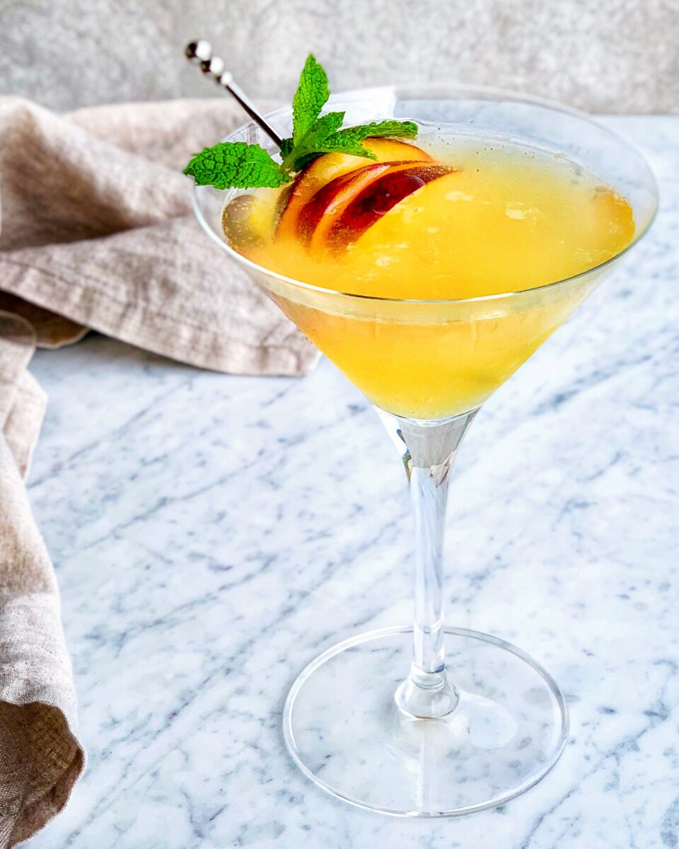 Peach & Orange Blossom Martini