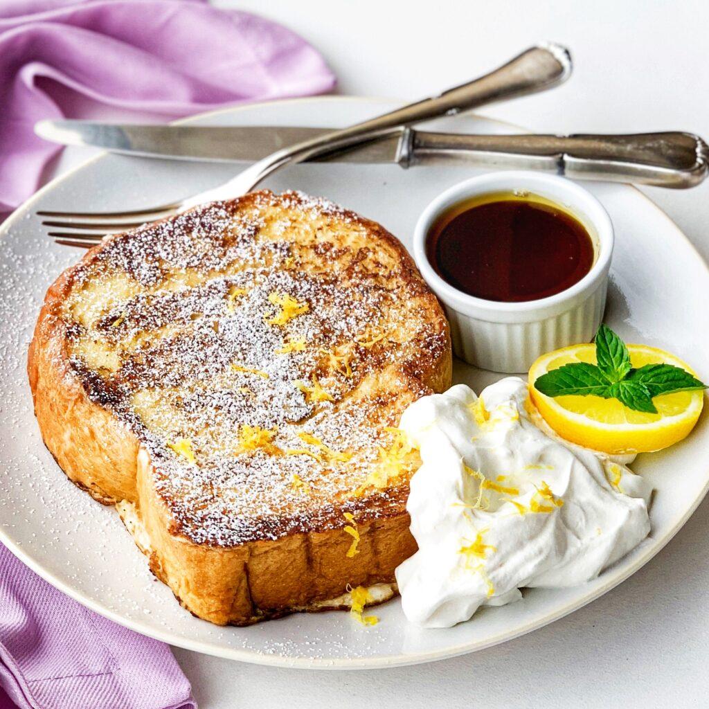 Lavender Lemon French Toast