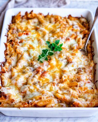 Creamy Chickpea Pasta Bake