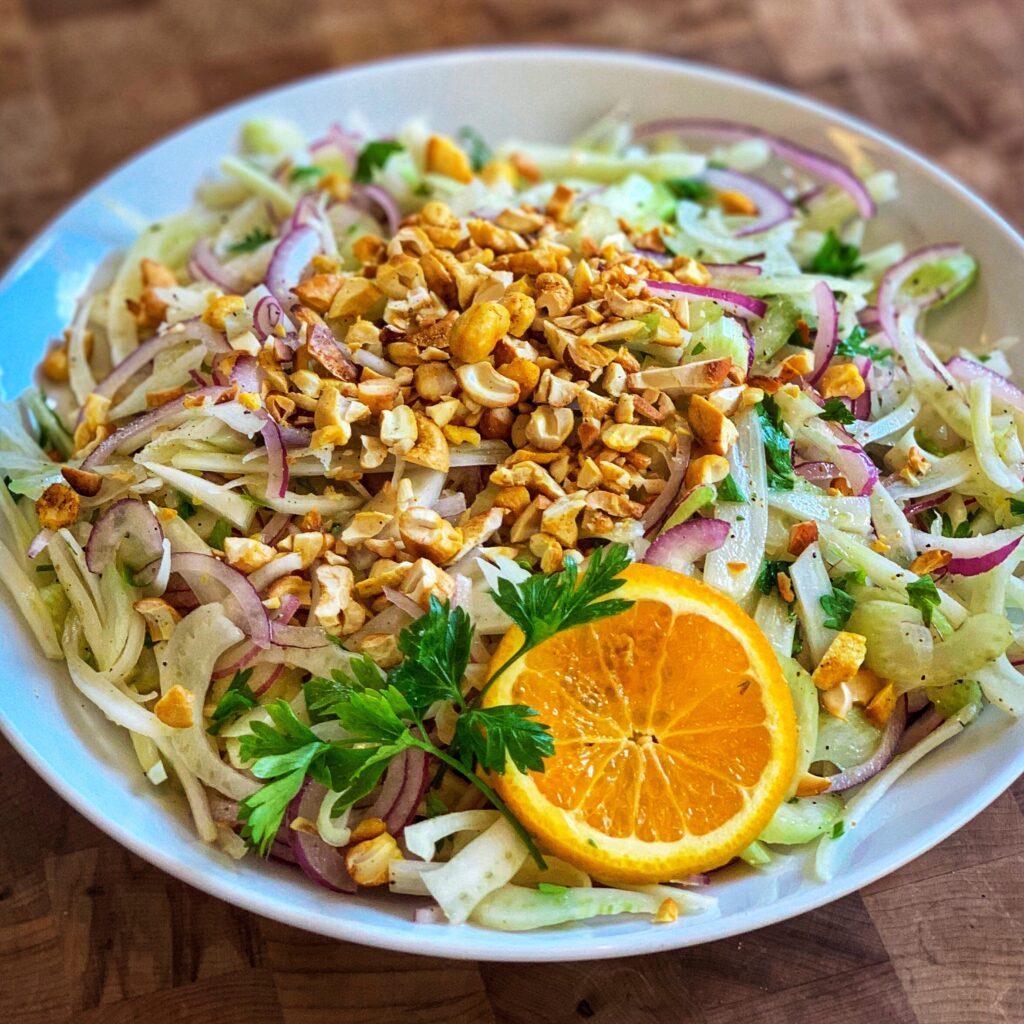 Fennel Salad w/Orange Vinaigrette & Spiced Cashews by The Culinary Institute of America