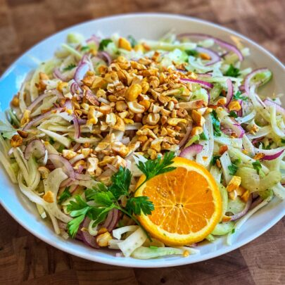 Fennel Salad w/Orange Vinaigrette & Spiced Cashews by The Culinary Institute of America
