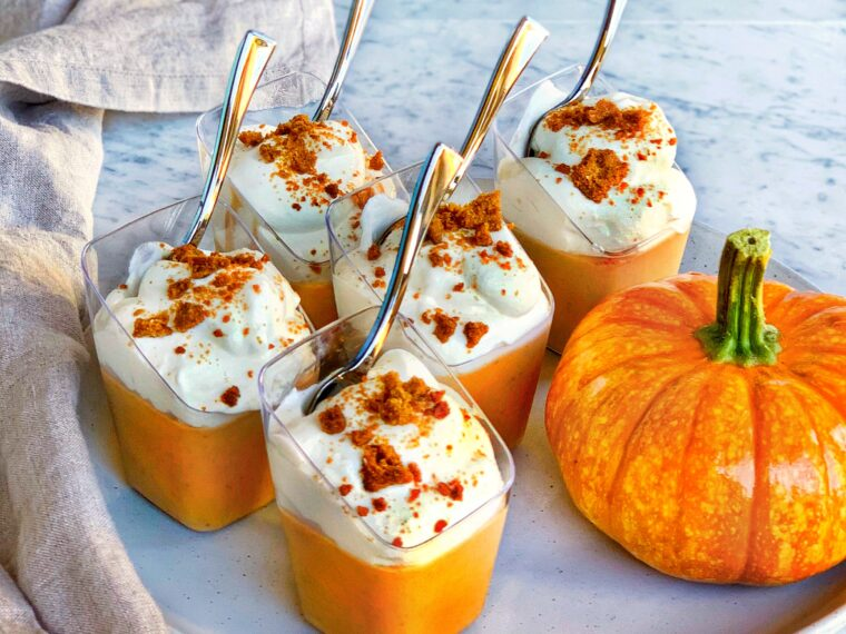 Pumpkin & White Chocolate Pots de Crème
