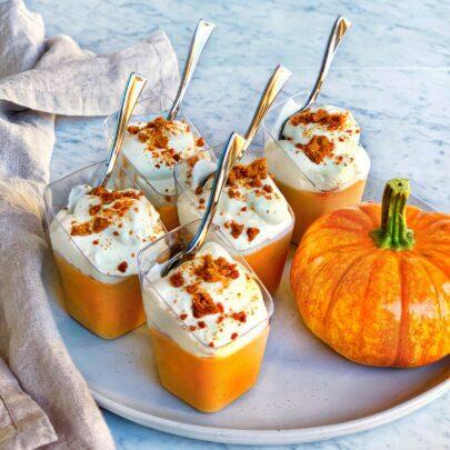 Pumpkin & White Chocolate Pots de Crème