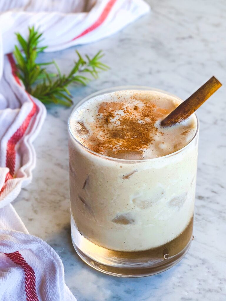 Old Fashioned Apple Cider & Bourbon Milk Punch
