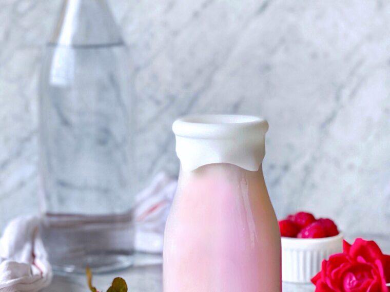 Raspberry Rose Almond Milk