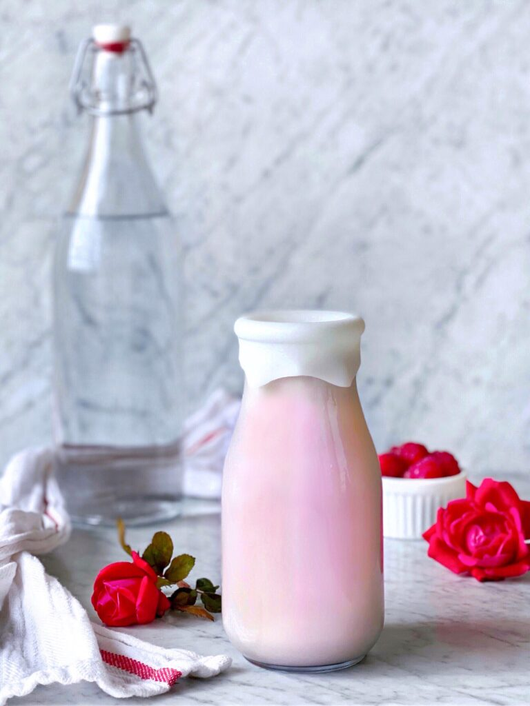 Raspberry Rose Almond Milk