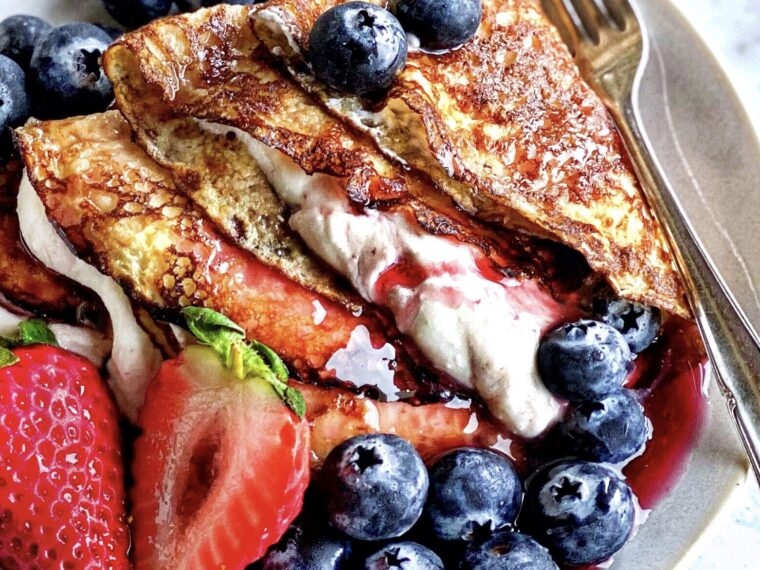 Crepes w/Whipped Ricotta Cream & Berries