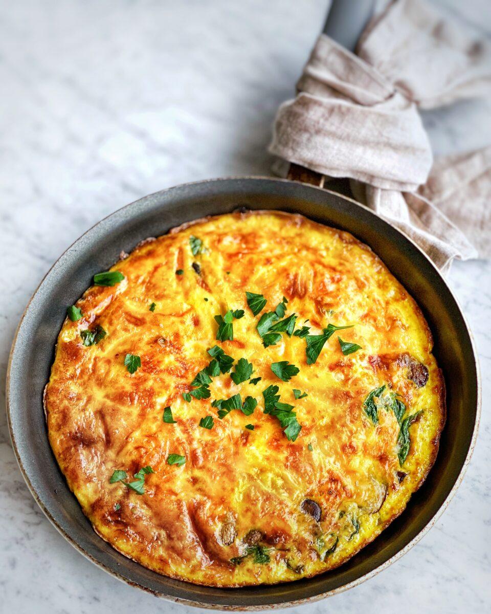 Spinach & Mushroom Frittata w/Cheese
