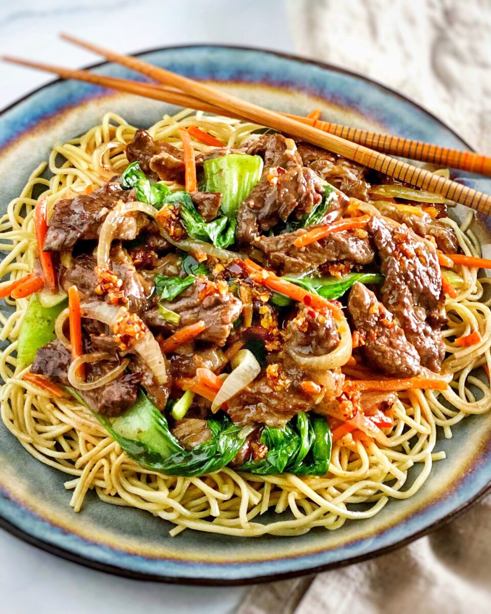 Asian Beef Stir Fry with Noodles