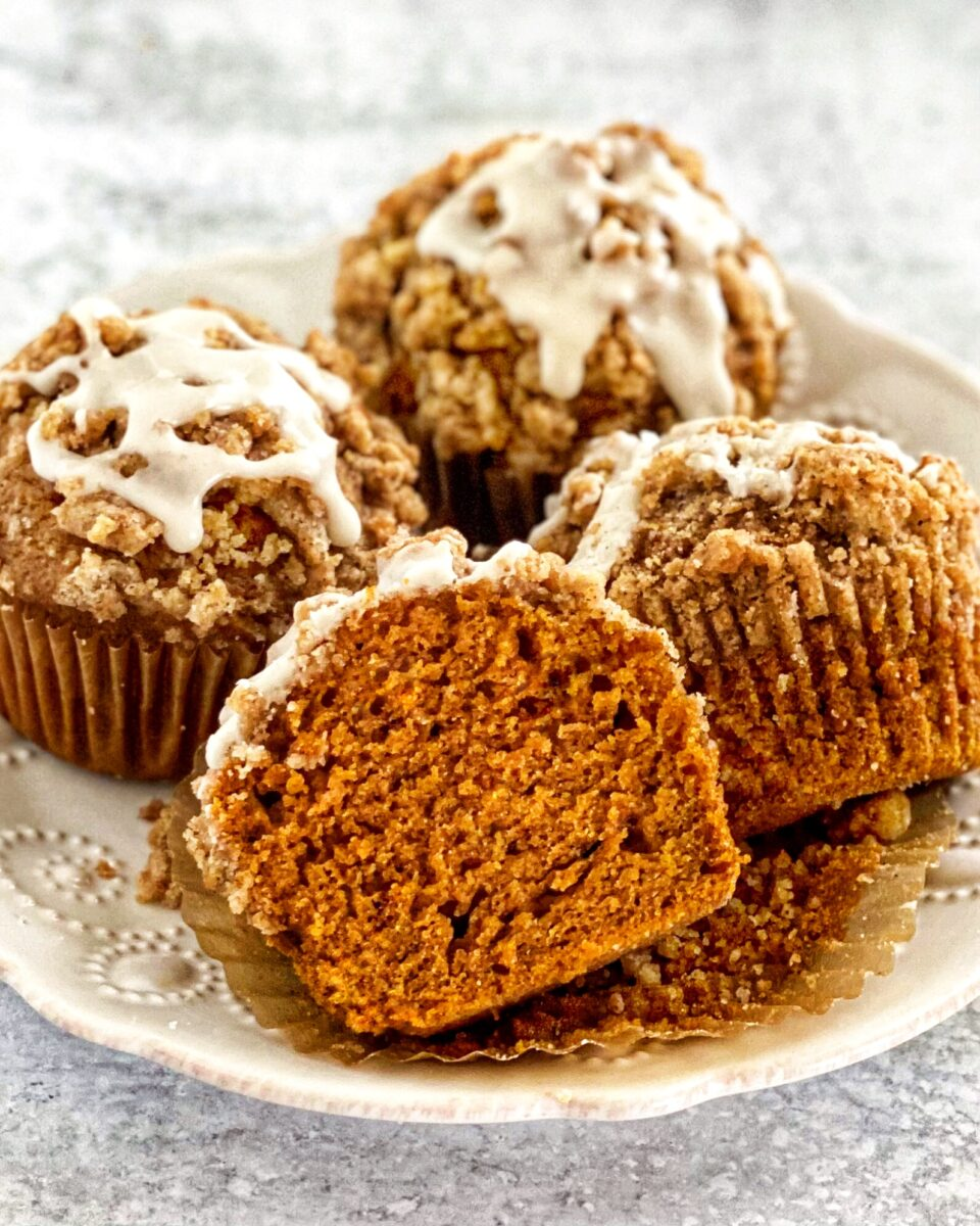 Pumpkin Spice Muffins w/Streusel Topping